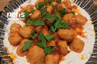Közlenmiş Patlıcanlı Yoğurtlu Bulgur Köftesi Tarifi