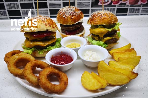 Ev Yapımı Hamburger Tarifi - Double Cheeseburger (Videolu)