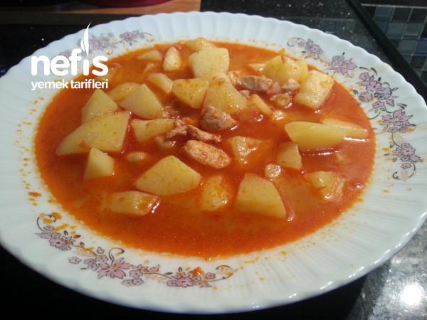 Tavuklu Ve Nohutlu Patates Sulusu