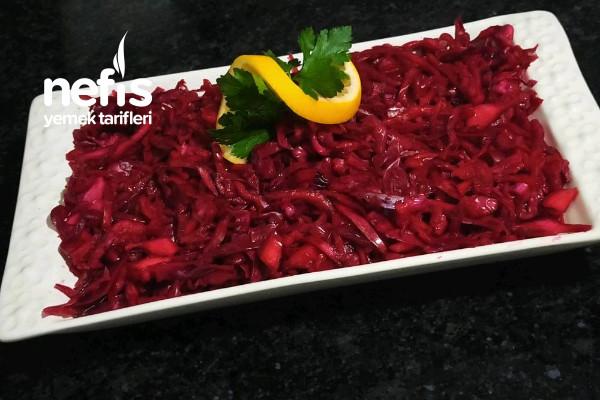 Mor Lahana Salatası (Turşu Tadında Harika Bir Lezzet) Tarifi