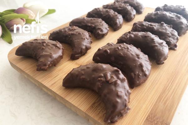 Hazır Almaya Son! Çikolata Kaplı Kurabiye Tarifi (Videolu)