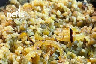 Karamelize Soğan Ve Mercimekli Bulgur Pilavı Tarifi