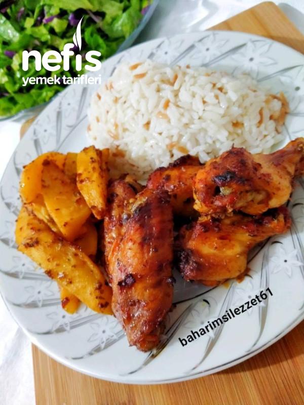Mangal Tadında Fırında Tavuk Kanat