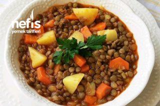 Sebzeli Yeşil Mercimek (Çok Besleyici Çok Lezzetli) Tarifi