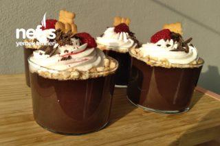 Kıvamı Akışkan Kupta Çikolatalı Puding (Videolu) Tarifi