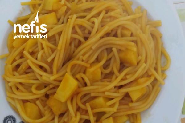 Patatesli Spagetti Tarifi