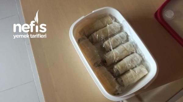 Difriz için Ispanaklı Sarma Böreği