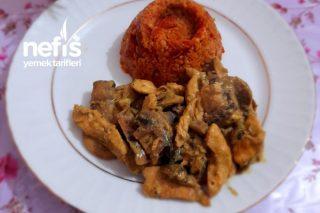 Kremalı Mantarlı Tavuk (Körili) Tarifi