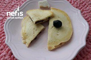 Bebek Kahvaltısı Zeytin Peynir Dolgulu Omlet Tarifi