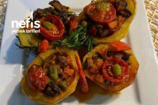 Fırında Patates Sandal( Etli Garnitürlü) Tarifi