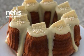 Beyaz Çikolata Soslu Pamuk Kek Tarifi