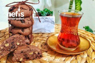 Çikolata Parçalı Üzümlü Cevizli Kurabiye Tarifi