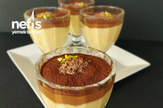 Karamelli Çikolatali Nefis Muhallebi Tarifi