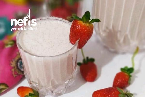 Çilekli Muzlu Milkshake (Tam Ölçülü) Tarifi