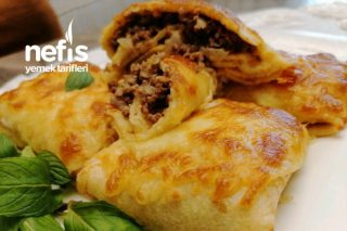 Nefiss!!! Fırında Kıymalı Krep Böreği Kesin Deneyin (Videolu) Tarifi