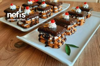 Burçak Bisküvili Porsiyonluk Pasta (Videolu) Tarifi