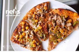 Mantarlı Diyet Pizza Tarifi