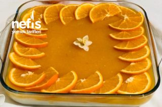 Portakallı Kedi Dilli Muhallebi Tarifi