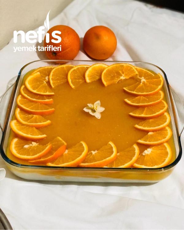 Portakallı Kedi Dilli Muhallebi