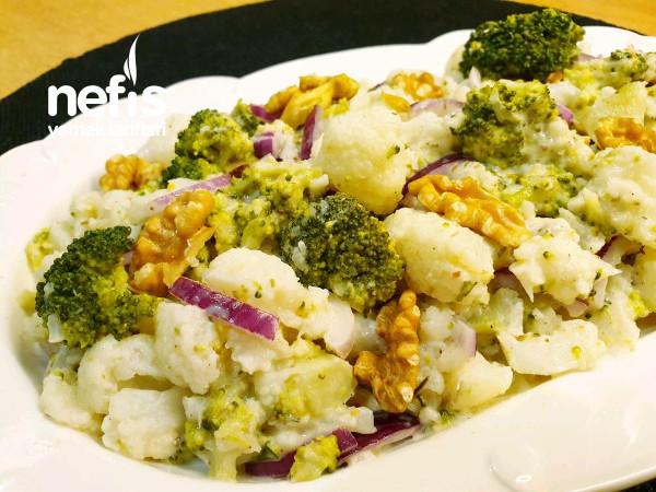 Baharatlı Brokoli Ve Karnabahar Salatası