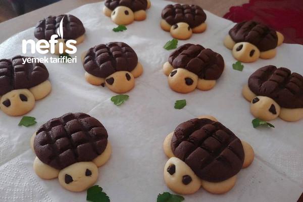 Kaplumbağa Kurabiye (Bu Tatlış Kurabiyeler Büyük Küçük Herkesin Favorisi Olacak) (Videolu)