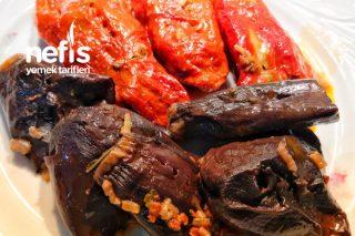 Kuru Patlıcan Ve Biber Dolması (Kıymalı) Tarifi