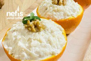 Portakal Çanağında Yoğurtlu Kereviz Salatası Tarifi