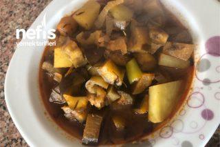 Etli Patatesli Patlıcan Yemeği Tarifi