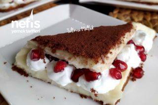 Tadına Doyamayacağınız Bisküvili Rulo Pasta (Videolu) Tarifi