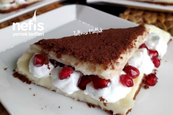 Tadına Doyamayacağınız Bisküvili Rulo Pasta (Videolu)
