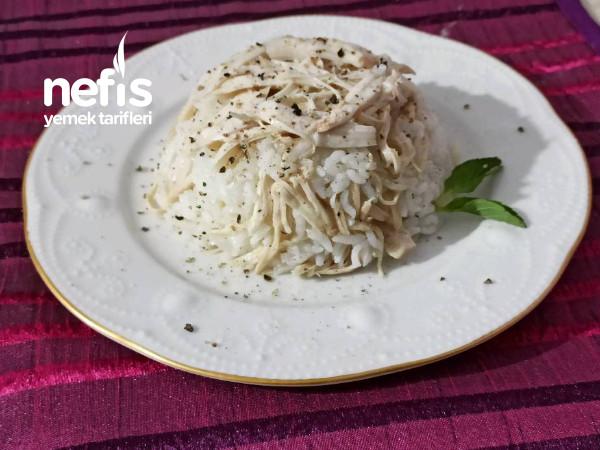 Tavuklu,Sade Pirinç Pilavı
