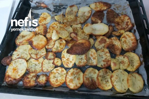 Fırında Ev Usulü Patates Cips