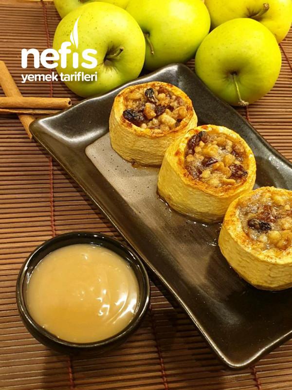 Yemeye Doyulmayan Cevizli Elma Tatlısı