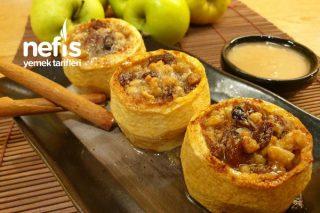 Yemeye Doyulmayan Cevizli Elma Tatlısı Tarifi