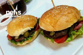 Ev Yapımı Hamburger Orjinal (Ekmek Ve Köftesi) Tarifi