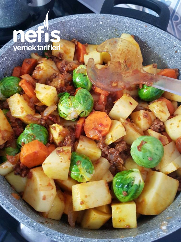 Brüksel Lahanalı Patates Yemeği