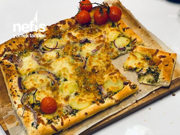 Patatezli Ve Milfoylu Pizza (Baska Yerde Bulamicaginiz Enfes Sosuyla)
