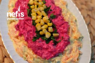 İki Renkli Salata (Çok Lezzetli) Tarifi