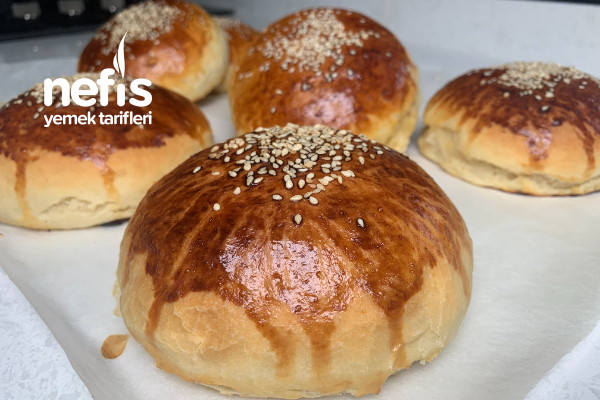 Puf Puf Hamburger Ekmeği Tarifi️ Evde Hamburger Ekmeği Nasıl Yapılır Videolu