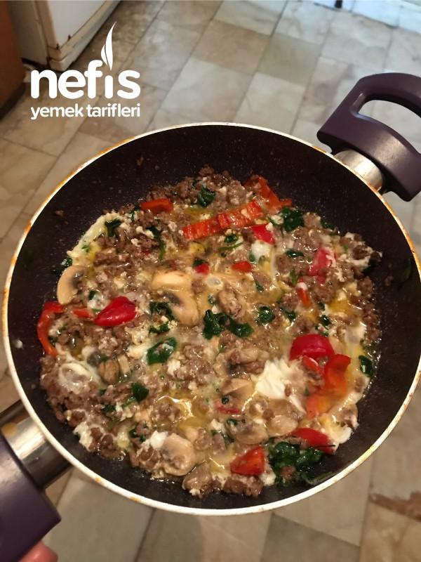 Kıymalı Yumurta Sıfır Karbonhidrat(protein Deposu)
