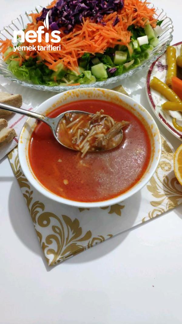 Etli paça lezzetinde Bol Sarımsaklı Bağışıklık Güçlendiren kış Çorbası