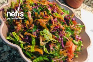 Bol Yeşillikli Kış Salatası Tarifi