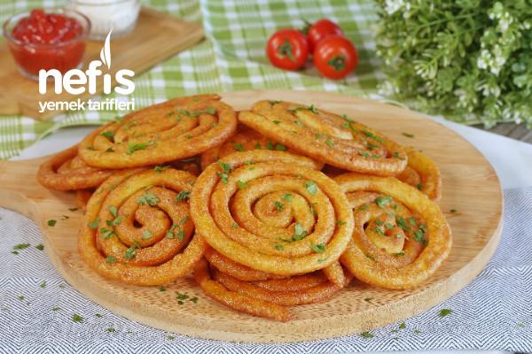 Dışı Çıtır Çıtır İçi Yumuşacık Spiral Patates (videolu)