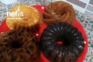4 Farklı Kek (Tek Hamurdan) Tarifi