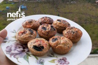 3 Malzemeli Diyet Kahvaltı Muffin Tarifi