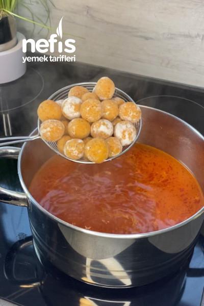 Sıkıcık Çorbası (Bulgurlu, Tarhanalı Köfte)