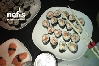 Evde Sushi (Suşi) Nasıl Yapılır Videolu