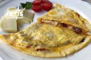 Soğanlı Pastırmalı Omlet Tarifi