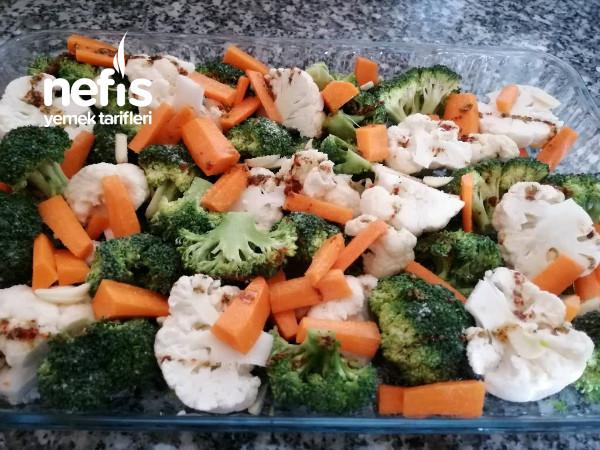 Diyete Uygun Fırında Sebze Yemeği