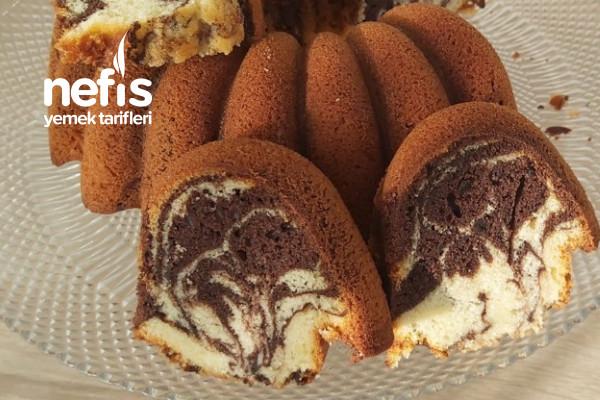 Kabardıkça Kabaran Kek Tarifi /Mozaik Kek/İki Renkli Kek (Videolu)